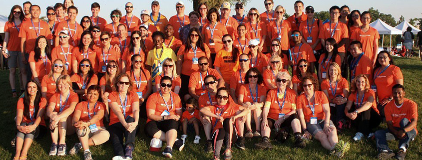 Relay for Life team photo.